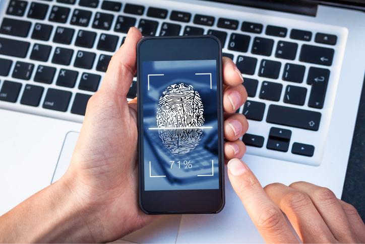 Fingerprint scanning on smartphone screen